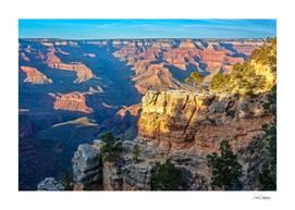 Golden Hour at Bright Angel Trail -Grand Canyon