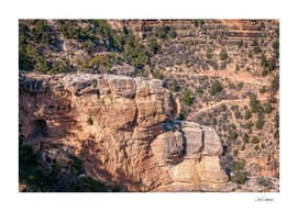 Angel's Window Rock on Bright Angel Trail in Grand Canyon