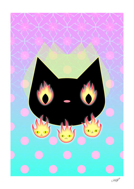 Celestial Flame Eyes Neko