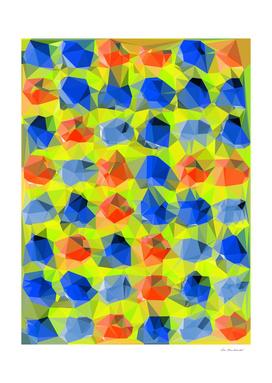 geometric polygon abstract pattern in yellow blue orange