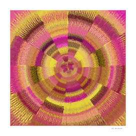 geometric polygon abstract pattern in pink and yellow