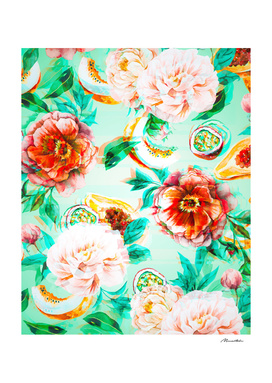 Tropical flowery fruit glitch