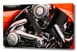 Motorcycle Chrome Engine Block
