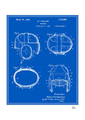 Football Helmet Patent - Blueprint