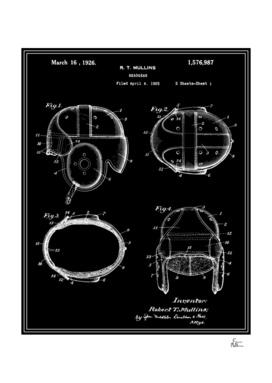 Football Helmet Patent - Black