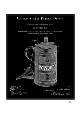 Gunpowder Can Patent - Black
