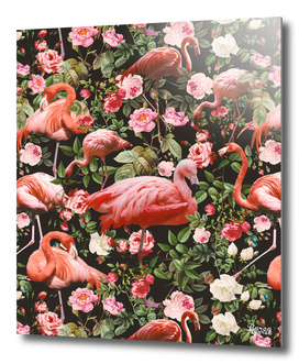 Floral and Flemingo Pattern