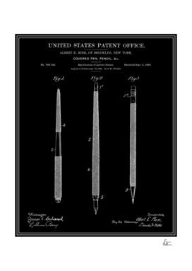 Pencil Set Patent - Black