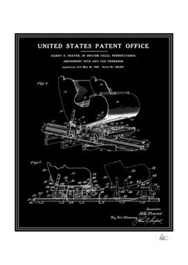 Roller Coaster Patent - Black
