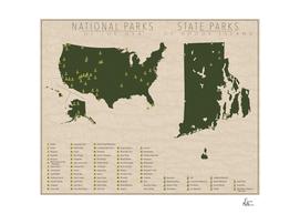 US National Parks - Rhode Island