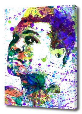 Muhammad Ali   watercolor