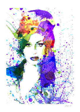 Amy Winehouse | watercolor