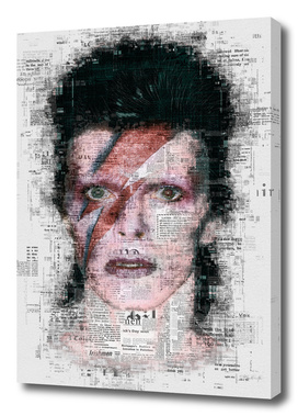 David Bowie Newspaper Style