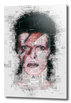 David Bowie Newspaper Style
