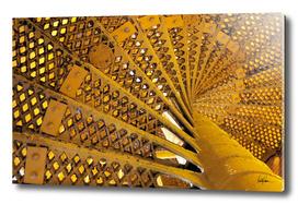 Yellow Spiral Stairwell