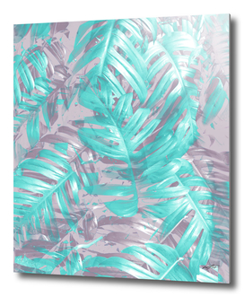 silver and teal foliage