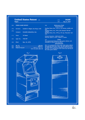 Arcade Game Patent - Blueprint