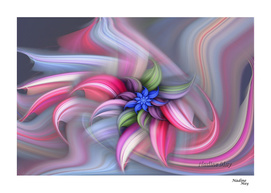 Swirling Abstract Flower