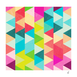 Bubblegum Triangles Pattern