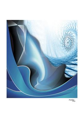 Blue vibration abstract