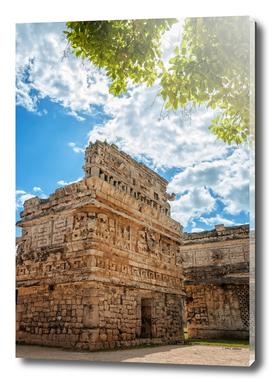 View of 'the Church' a Mayan ruin at Chichen Itza, Mexico