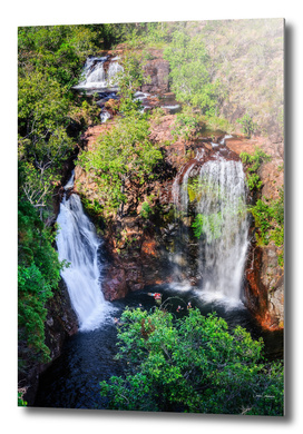 Florence Falls - view from above-NT, Australia