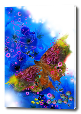 Butterfly on Blue