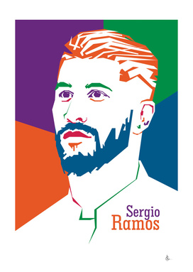 Pop Art Sergio Ramos