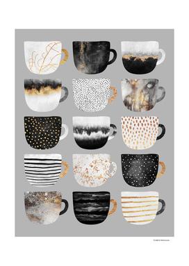 Pretty Coffee Cups 3 - Grey
