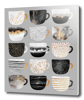 Pretty Coffee Cups 3 - Grey