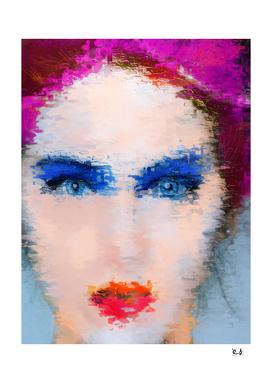 Blue Turquoise Eyes Girl
