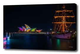A Tall Ship at Vivid Sydney