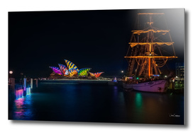 A Tall Ship at Vivid Sydney