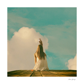 girl in the sky with owl