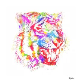 Animal II - Tiger Colorful Halftone / NE