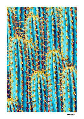 Neon + Gold Cactus