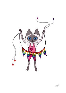 Pride Banner Siamese Cat