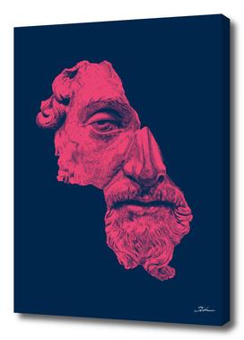 MARCUS AURELIUS ANTONINUS AUGUSTUS / blue / red