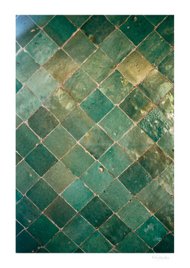 Green Tile Pattern