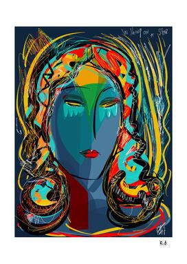 Iris Blue Pop Girl