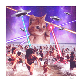 cat invader from space galaxy marsians