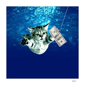 Cat Nevermind Album Cover under Water Baby