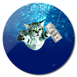 Cat Nevermind Album Cover under Water Baby