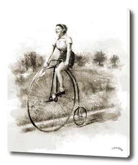 Woman on bicycle