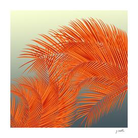 Summer Palm Leaves, Orange