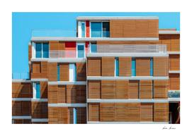 Apartment Building Block Exterior Facade In Valencia