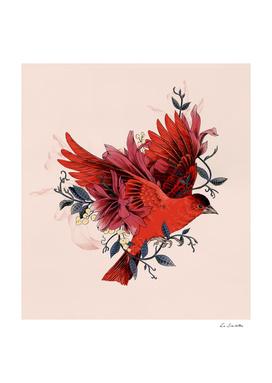 Blooming bird