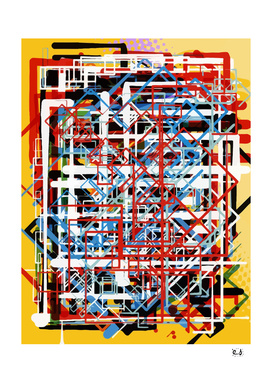 Yellow Abstract Expressionist Art