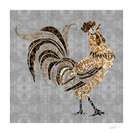 Le Coq Gaulois (The Gallic Rooster) Platinum Leaf