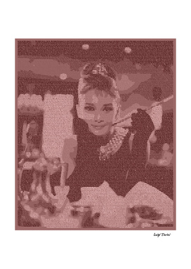 Script of Breakfast at Tiffany's picturing Audrey Hepburn
